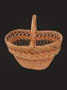 The basket is wattled, a rod