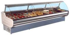 Show-windows refrigerating with the built-in