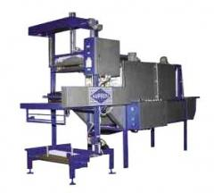 The equipment for packaging of goods in the