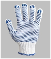 Glove knitted the increased density with t PVC