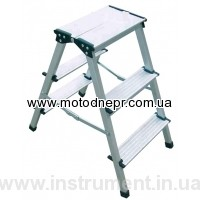 Aluminum bilateral step-ladder of FORTE AO82-202
