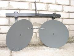 Дисковый окучник для мотоблока с двойной сцепкой на подшипниках