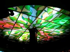 Ceiling Simferopol, stained glass with