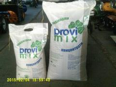 Compound feed feeding for broilers of PROVIMIX of