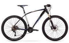 """Велосипед ROMET Mustang R-line 27.5"""" 1.0 хром-чёрный-синий 19"""