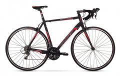 Велосипед ROMET Huragan 1.0 чёрный-красный 52