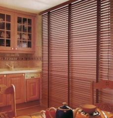 Blinds horizontal wooden and bamboo 25 mm and 50