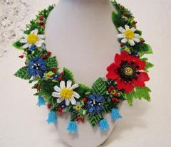 "Necklace from beads ""the Blossoming"