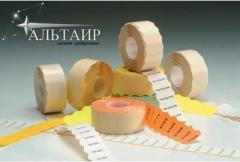 Marking sticker. Etiquette tape for METO cut