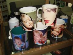Фото на чашках  ,пресс для нанесения фото на чашки
