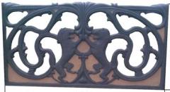 Заборы железобетонные декоративные, Бетонные