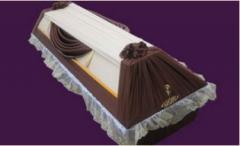 Гробы оббитые тканью