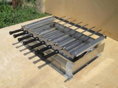 The grill barbecue is stationary