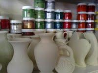Vases are ceramic