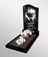 Gravestones from granite with a portrait Kiev and