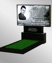 Production of granite monuments with a portrait to