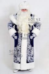 Костюм Деда Мороза синий от производителя
