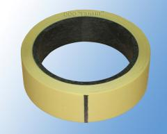 Bilateral adhesive tape on a polypropylene basis