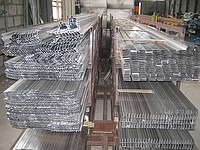 Aluminum shape of a strip, corners, squares,