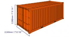 Standard 20-foot container.