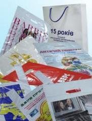 Упаковка полиэтиленовая для фасовки, упаковки или транспортировки пищевых, технических или производственных продуктов