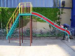Playgrounds, swing, hills and roundabouts in