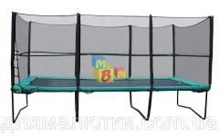 Батут MВМ 457х305 см с защитной сеткой + лестница