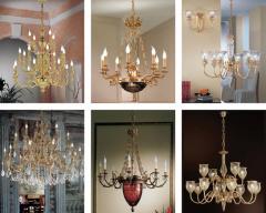 Люстры с хрустальными подвесками Коллекция Ricordi