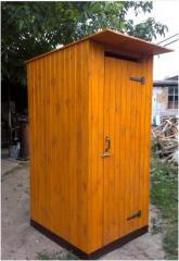 Туалет дачный из имитации бруса - в разобранном