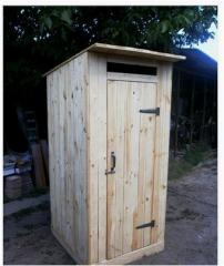 Туалет дачный из сухой обрезной доски