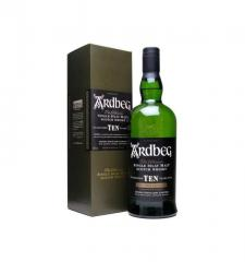 Ardbeg whisky is 10 years old (in box) 0,7 l.