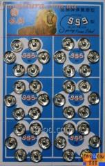 The button on sheets D 10 of mm nickel