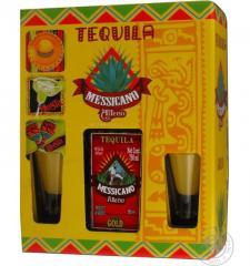 Messicano Alteno Gold tequila (+ 2 glasses) 0,75