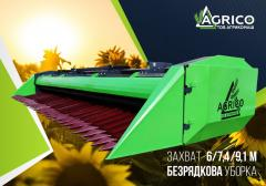 Harvester for cleaning of sunflower of ZhNS 7.4 on