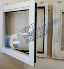 Aluminum windows of the warm KMD.70 series