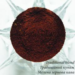 100% natural Traditional blend ground coffee