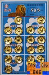 The button on the sheets D14mm. gold