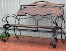 Уличная скамейка кованая от производителя Украина
