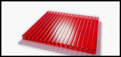 Сотовый красный поликарбонат 6 мм Polynex