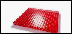 Сотовый красный поликарбонат 10 мм Sunnex
