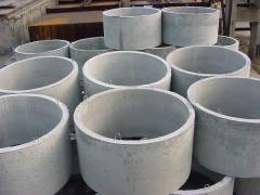 Rings wall cylindrical faltsevy for wells, wells,