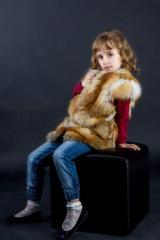 Жилет детский из меха лисы Харьков (код ДЖЛ001038)