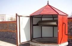 Домик на колодец восьмигранный из металлопрофиля