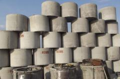 Rings reinforced concrete for wells of different