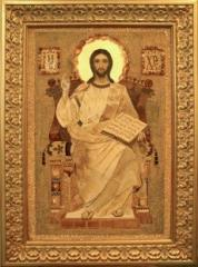 "Christ on a throne"" icons from amber"