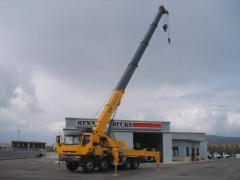 Automobile korotkobazovy hoisting cranes (Hoisting