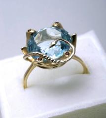 Кольцо золотое со змеей Артикул: К062
