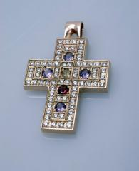 Крестик золотой Артикул: П001