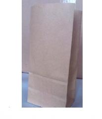 Пакет бумажный с плоским дном 240х120х80