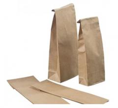 Бумажный пакет з плоским дном для чая, кофе, муки